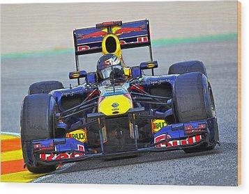 Red Bull Formula 1 Racing Wood Print