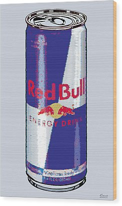 Red Bull Ode To Andy Warhol Wood Print by Tony Rubino