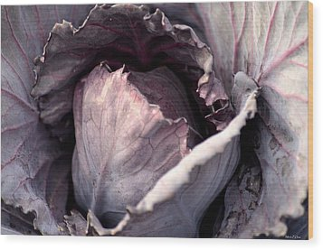 Red Cabbage Wood Print by Maria Urso