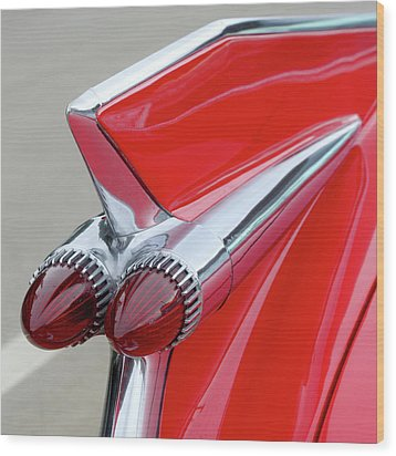 Red Caddy Wood Print by Art Block Collections