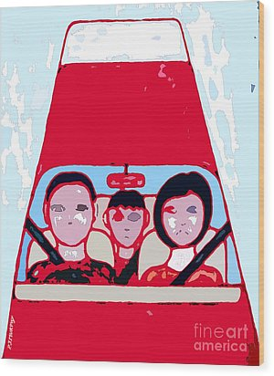 Red Car Wood Print by Patrick J Murphy