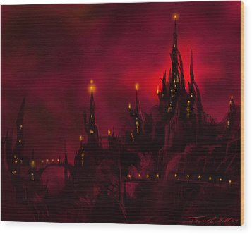 Red Castle Wood Print