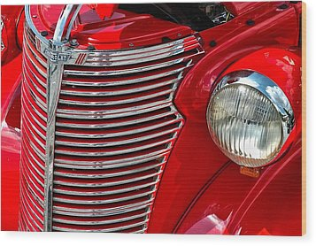 Red Chevrolet  Wood Print by Allen Carroll