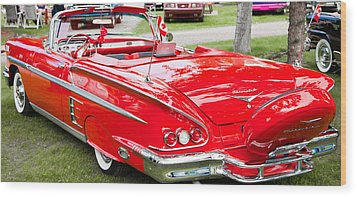 Red Chevrolet Classic Wood Print by Mick Flynn
