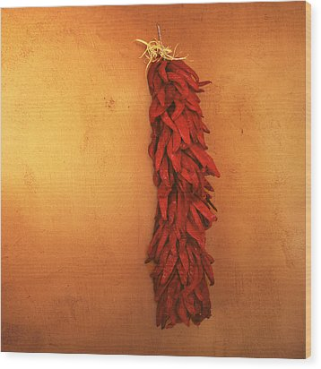 Red Chili Peppers Wood Print by Ann Powell