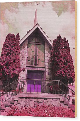 Wood Print featuring the photograph Red Church by Laurie Tsemak