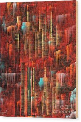 Concrete Jungle Wood Print by Yul Olaivar