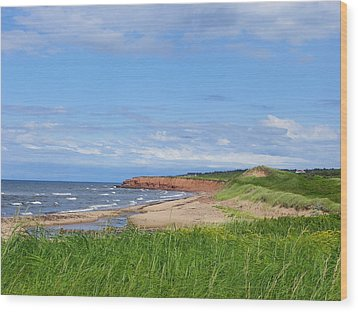 Red Cliffs Of Pei Wood Print