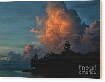 Red Clouds Wood Print