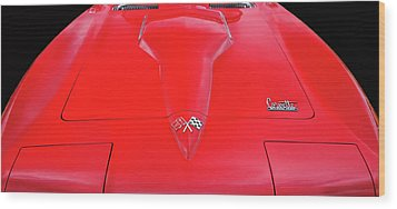 Wood Print featuring the photograph Red Corvette by Dave Mills