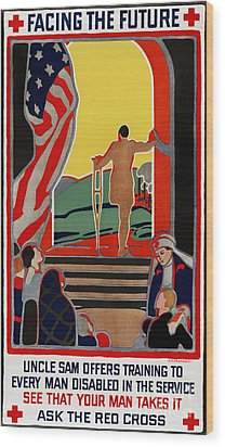 Red Cross Poster, 1919 Wood Print by Granger