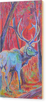 Red Dawn Wood Print by Jenn Cunningham