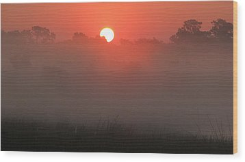 Wood Print featuring the photograph Red Dawn by Peg Urban