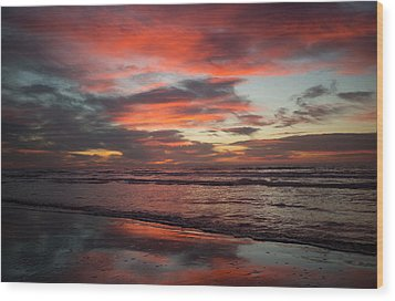 Wood Print featuring the photograph Red Dawn by Sharon Jones
