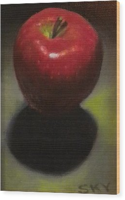 Red Delicious Wood Print by Blue Sky