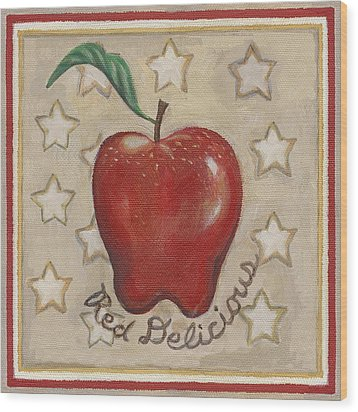 Red Delicious Two Wood Print by Linda Mears