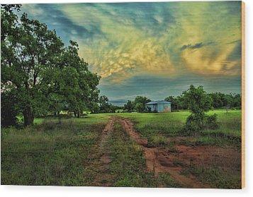 Red Dirt Road Wood Print by Toni Hopper