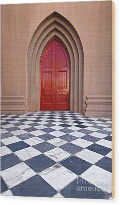 Red Door - D001859 Wood Print