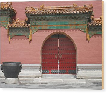 Wood Print featuring the photograph Red Door In The Forbidden City by Kay Gilley