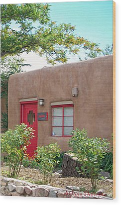 Wood Print featuring the photograph Red Door by Sylvia Thornton