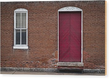 Wood Print featuring the photograph Red Door by Wayne Meyer