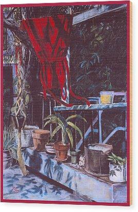 Red Dress Wood Print by Dan Terry