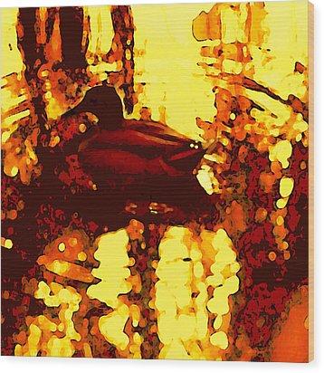 Red Duck Lake 6 Wood Print by Amy Vangsgard