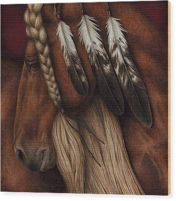Wood Print featuring the painting Red Eagle by Pat Erickson