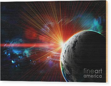 Red Earth The Blue Planet Wood Print by Boon Mee
