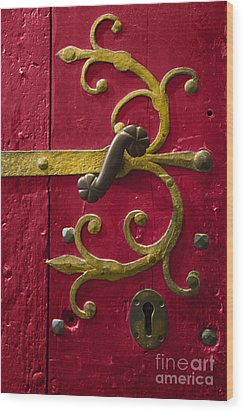 Red Entrance Wood Print