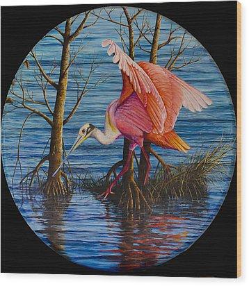 Red Eye Wood Print by AnnaJo Vahle