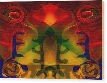 Red-eyes Black Dragon Wood Print by Omaste Witkowski