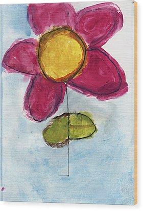 Red Flower Wood Print by Skip Nall