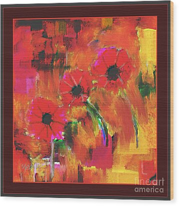 Red Flowers Wood Print by Nedunseralathan R