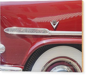 Wood Print featuring the photograph Red Ford Crestline V8 by Ecinja Art Works