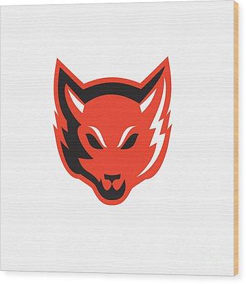Red Fox Head Front  Wood Print by Aloysius Patrimonio