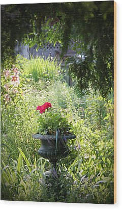 Red Geranium Wood Print by John Stuart Webbstock