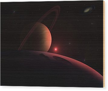 Red Giant Wood Print by Ricky Haug