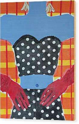 Red Gloves Wood Print by Diane Fine