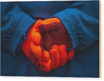Red Gloves - Featured 3 Wood Print by Alexander Senin