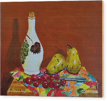 Wood Print featuring the painting Red Grapes by Melvin Turner