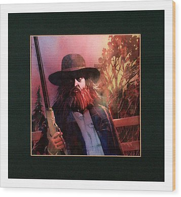 Red Headed Stranger Wood Print by David  Chapple