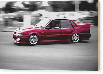Red Holden Wood Print by Phil 'motography' Clark