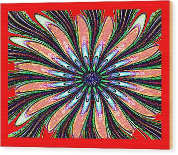 Red Intrusion Wood Print by Bruce Iorio