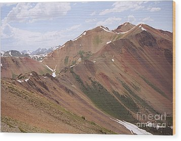 Wood Print featuring the photograph Red Iron Mountain by Arthaven Studios