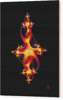 Red Jewel Wood Print by David Jenkins