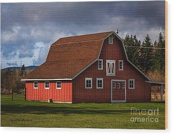 Wood Print featuring the photograph Red Kirsop Barn by Jean OKeeffe Macro Abundance Art