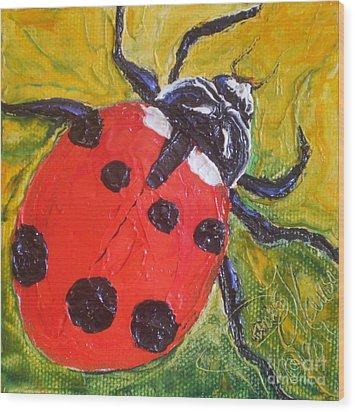 Red Ladybug Wood Print by Paris Wyatt Llanso