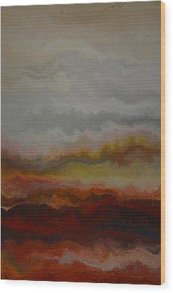 Red Landscape  Wood Print by Andrada Anghel