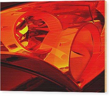 Red Light Wood Print by Wendy J St Christopher